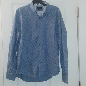 Denim & Flower Button-down shirt